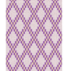 Seamless jacquard ornament texture vector