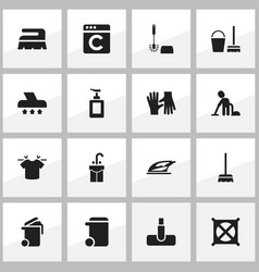 set of 16 editable cleanup icons includes symbols vector image