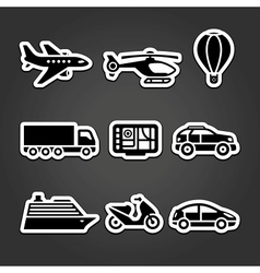 Set stickers transport vector image