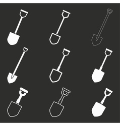 Shovel icon set vector