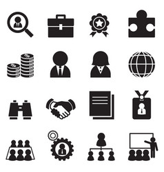silhouette job icon set vector image vector image