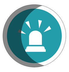 siren alarm isolated icon vector image