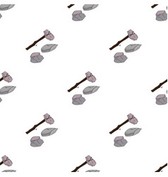 stone tools icon in cartoon style isolated on vector image