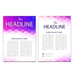 Template design flyer brochure cover vector