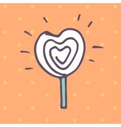 Valentines Day lollipop flat icon vector image