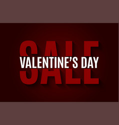 valentines day sale design background vector image vector image