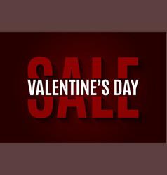 valentines day sale design background vector image