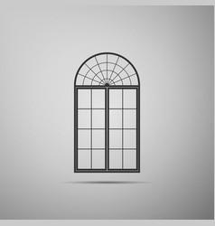 window icon isolated on grey background vector image