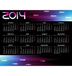 year calendar vector image vector image