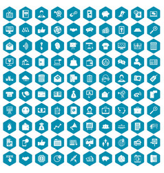 100 viral marketing icons sapphirine violet vector image vector image
