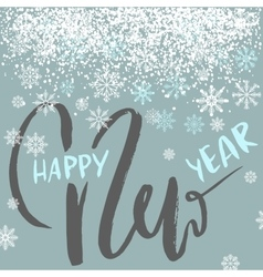 Happy new year lettering design with white vector