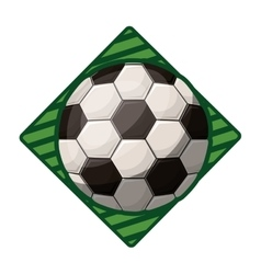 Soccer tournament emblem with ball vector