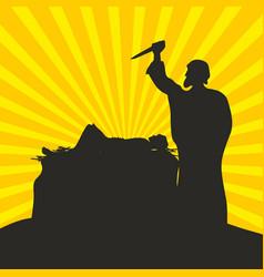 Abraham brings the sacrifice vector