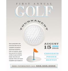 Golf Flyer vector image