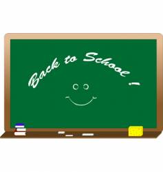 blackboard with text vector image