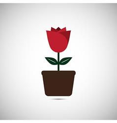 Love flower pot vector