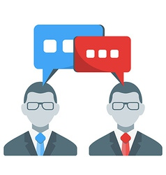 Business people communication concept in fl vector