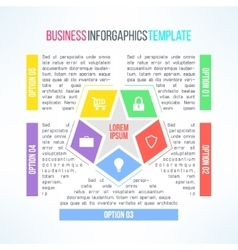Bright infographic template suitable for vector