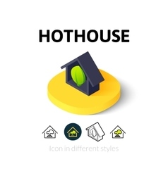 Hothouse icon in different style vector