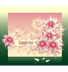 flowers fantasy vector image