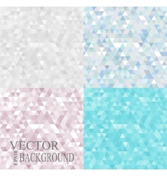 Abstract geometric backgrounds set consisting of vector image