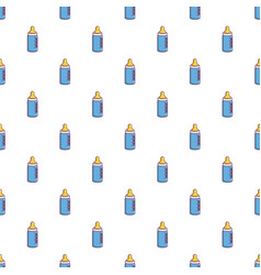 Baby milk in bottle pattern seamless vector