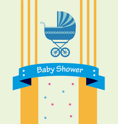 Baby shower design over yellow background vector