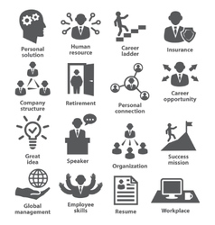 Business people management icons vector image vector image