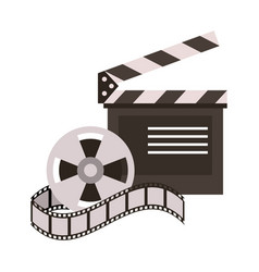 clapperboard film icon image vector image vector image