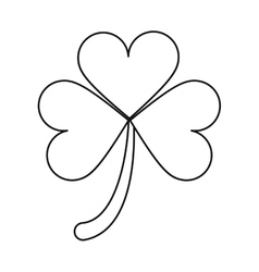 clover leafs saint patrick day ornament outline vector image