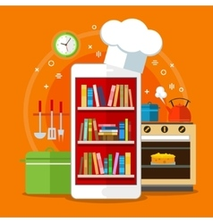 Concept of searching for recipes in web vector