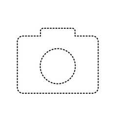 digital camera sign black dashed icon on vector image