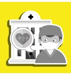 doctor medical icon vector image vector image