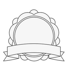 emblem with ribbon icon image vector image