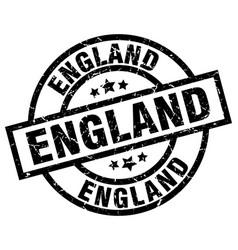 England black round grunge stamp vector