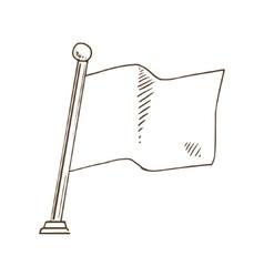 Flag sketch vector
