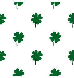 Four leaf clover pattern seamless vector