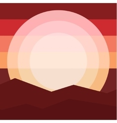 Nature landscape mountain sunset Travel vector image