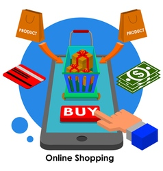 online shopping2 vector image