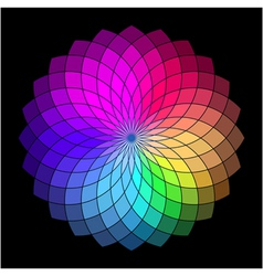 Rainbow style wheel Color Creative Abstract Flower vector image vector image