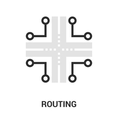 routing icon concept vector image vector image