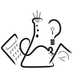 Science fair logo vector