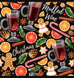 Seamless mulled wine vector