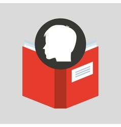 Silhouette head boy student knowledge vector