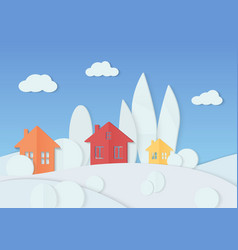 simple colorful houses vector image