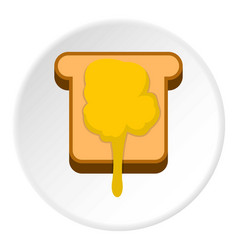 Toast with honey icon circle vector