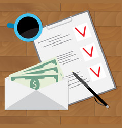 wage planning to spend vector image vector image
