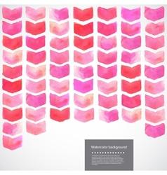 Watercolor geometric chevron vector