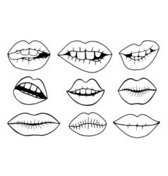 - sweet lips vector
