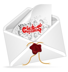 Christmas Email vector image